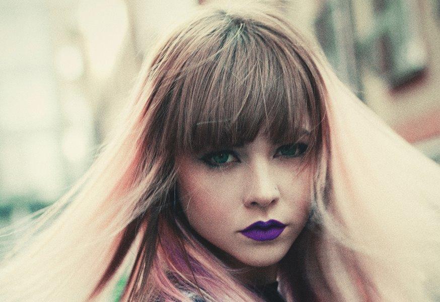 Purple-Colored Lips